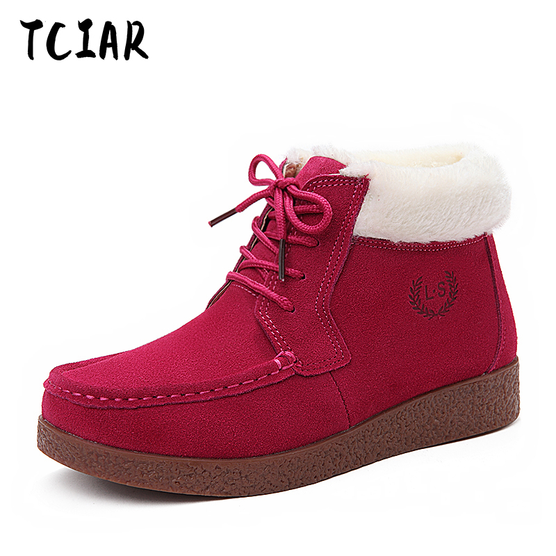 Keep warm Female boots with nubuck leather boots female leisure boot shoes female Short boots For All Season Hot Selling NX2530 2017 cow suede genuine leather female boots all season winter short plush to keep warm ankle boot solid snow boot bota feminina