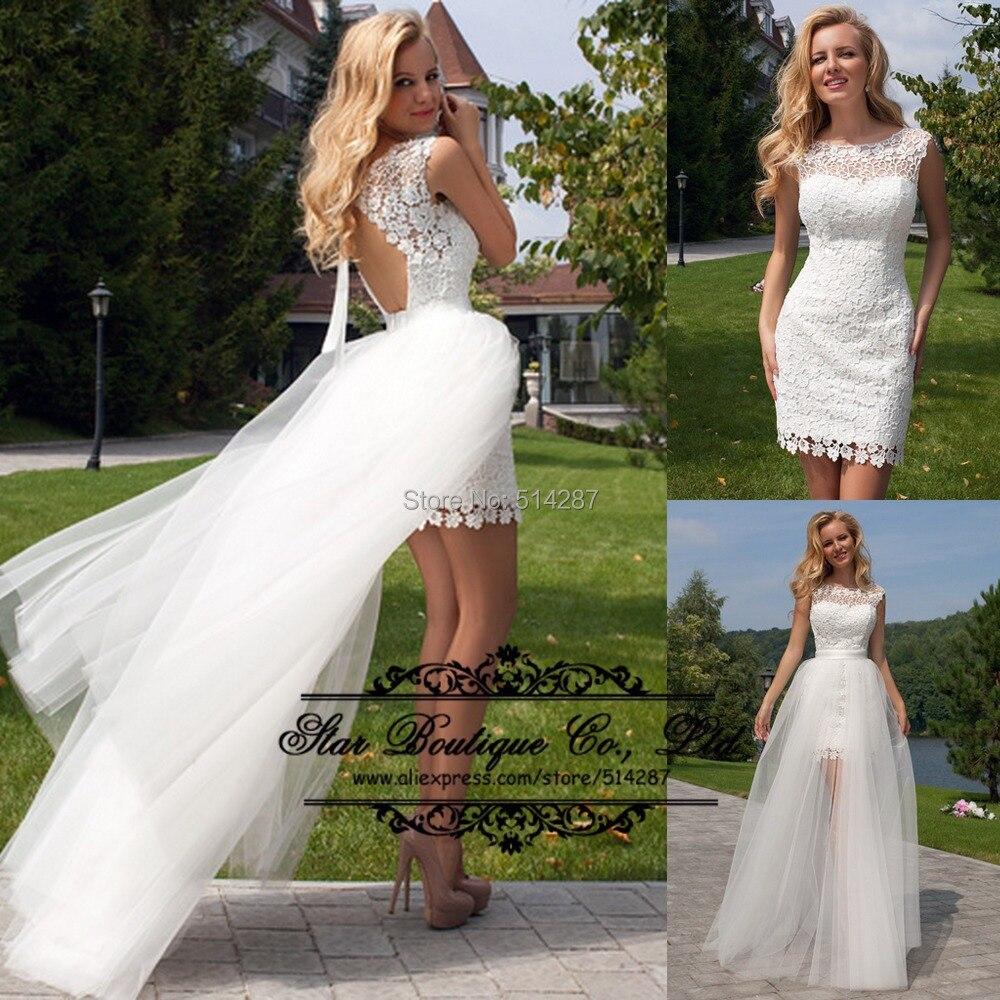 Aliexpress.com : Buy Vestido De Noiva 2016 Sheath Short