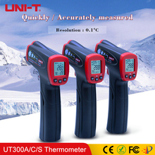 UNI-T UT300A UT300C UT300S Infrared Thermometer Non-contact Electronic Industrial Food Thermometers LCD Display