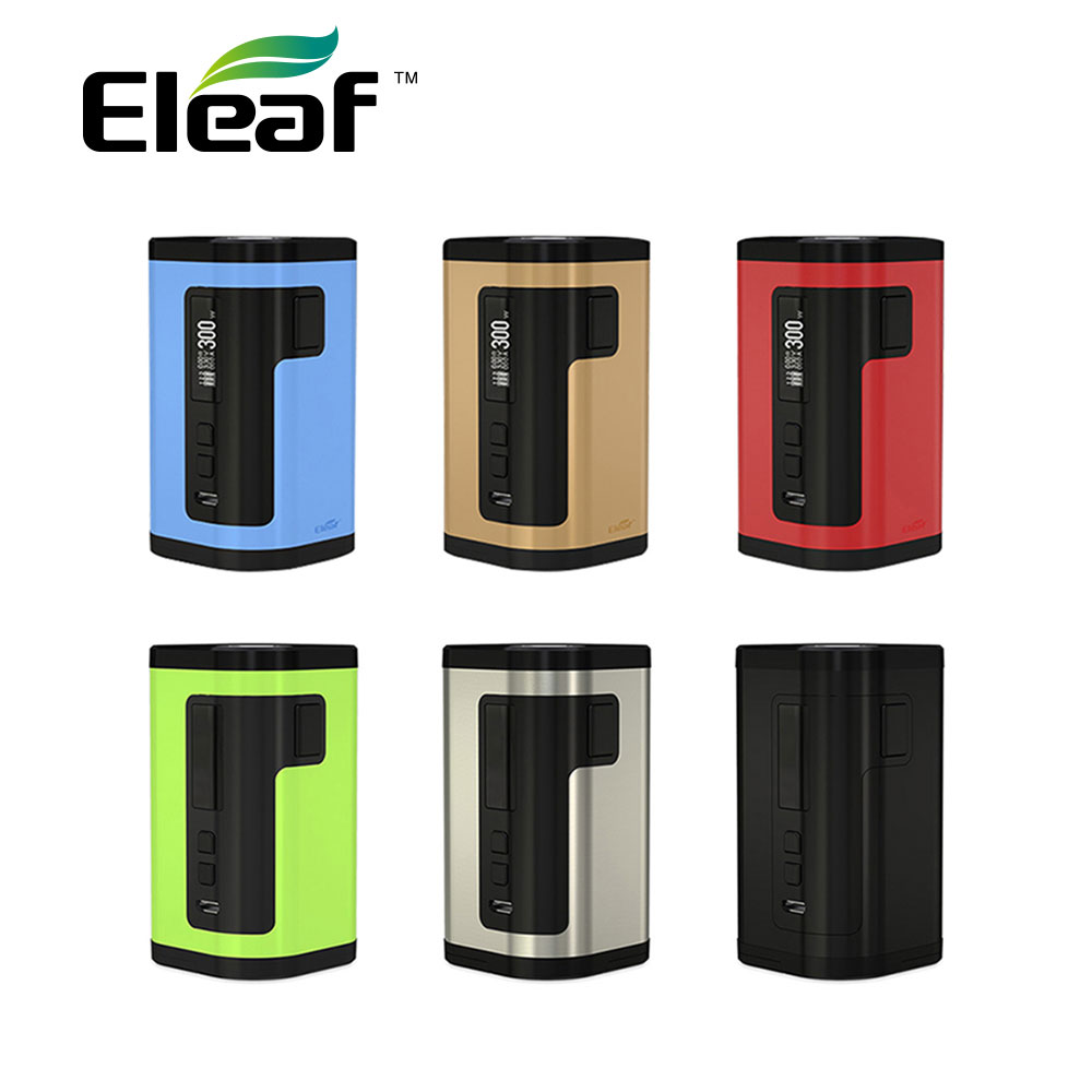 Original 300W Eleaf IStick Tria TC Box MOD Max 300W Output with 0.91-inch Display & Upgradable Firmware No 18650 Cells E-cig Mod