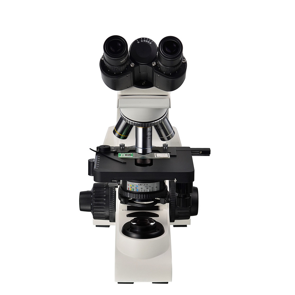 AMDSP XUB103 Optical Binocluar Biological Microscope 40X 1000X Infinity Plan Achromatic Objective Medical Teaching