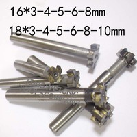 Welded Carbide T Slot Milling Cutter 16mm 3 4 5 6 8mm 18 3 4 5