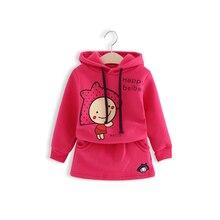 Girls clothes Children sport clothing coat + skirts 2 pcs set Baby clothes set