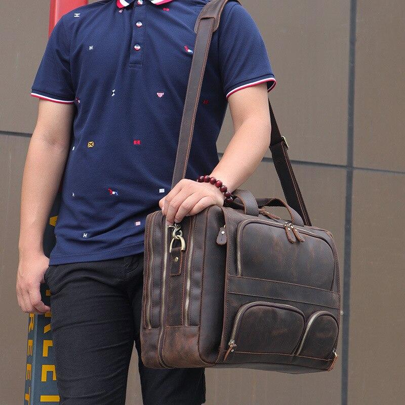 HTB11vGAQNTpK1RjSZR0q6zEwXXa0 MAHEU Vintage Leather Mens Briefcase With Pockets Cowhide Bag On Business Suitcase Crazy Horse Leather Laptop Bags 2019 Design