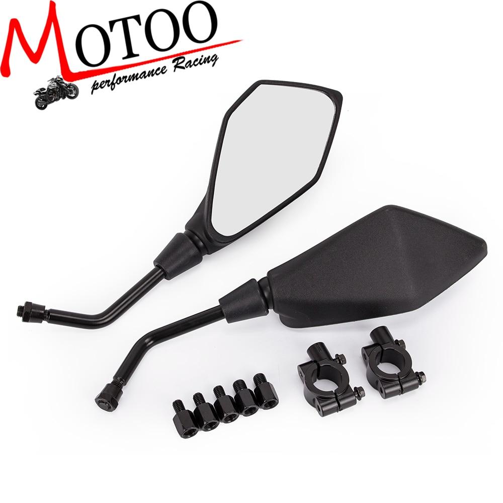 Motoo-Specchio Moto Scooter Retrovisore Specchi Electrombile Posteriore Lato Specchio Convesso 8mm 10mm per Honda ATV Dirt Bike Cruiser