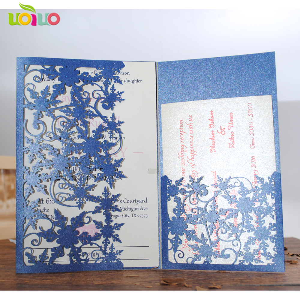 Best Wedding Invitations Cards: Best Sale!laser Cut Lovely Tri Fold With Pocket Wedding