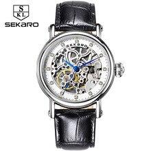 SEKARO Brand Women Mechanical Watches Diamond Ladies hand-wi