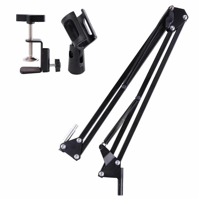 Trípode NB 35 para micrófono, soporte extensible de Metal, soporte de brazo de tijera para trípode con pinza de micrófono, abrazadera de montaje para BM 800