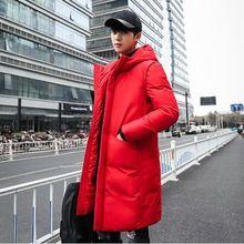 цена на b High Quality Parka Men Winter Long Jacket Men Thick Cotton-Padded Jacket Mens Parka Coat Male Fashion Casual Coats 5XL