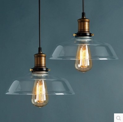 60W Loft Style Vintage Lamp Industrial Pendant Lighting Fixtures with Glass Lampshade Edison Retro Lamp Luminaire Suspenison цена