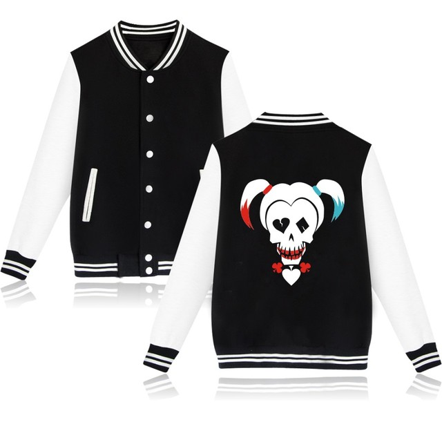 67647db77a Suicide Squad Harley Quinn Jacket Woman Bomber Basic Coats Winter Jaqueta  Feminina Chaquetas Mujer Jackets Veste Pink Girls