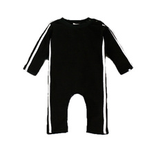 2017 Fashion Organic cotton Rompers Long Sleeve Infant Jumpsuits Solid color sportswear High Quality Boutique Kids