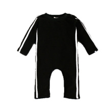 2017 Fashion Organic cotton Rompers Long Sleeve Infant Jumpsuits Solid color sportswear High Quality Boutique Kids ClothesT4528