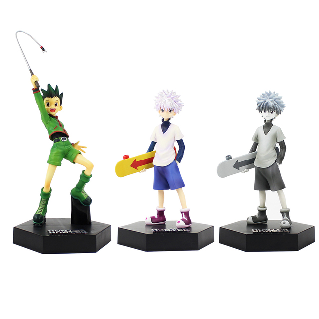 16cm Hunter X Hunter Gon Freecss Killua Zoldyck PVC Action Figure Spielzeug Hunter X Hunter Killua Illumi Zoldyck Kulolo lushilufelu