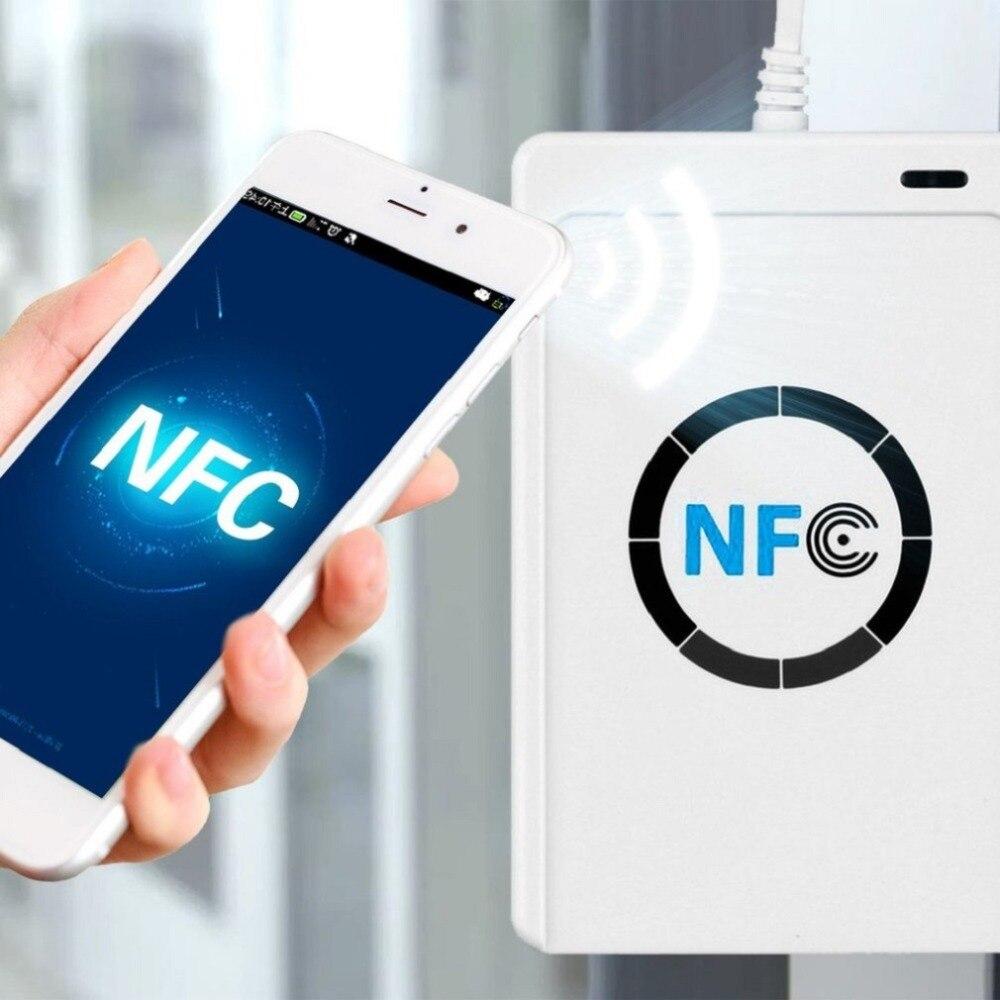 NFC ACR122U RFID Smart Card Reader Писатель Копир копировальный записываемый программного обеспечения Клон USB S50 13,56 мГц ISO/IEC18092 + 5 шт. M1 карты