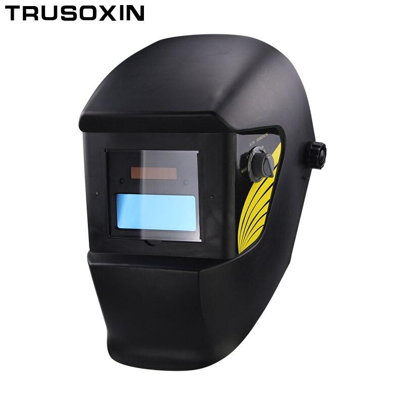 AAA батарея + Солнечная Автоматическая/авто затемнение TIG MIG MMA MAG Сварочная маска/шлемы маска для лица сварочные очки/маска для защиты глаз
