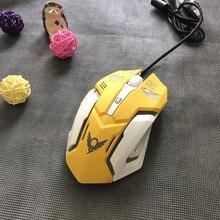 Overwatchs Misericórdia de Respiração LED Retroiluminado Gaming Mouse Com Fio Do Rato Do Computador USB para PC & Mac Transporte da gota