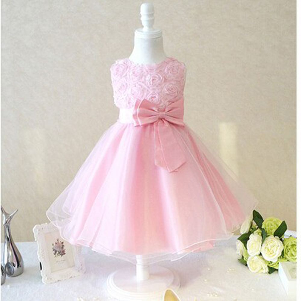 Aliexpress buy new flower girl christening wedding party aliexpress buy new flower girl christening wedding party pageant dress baby first communion toddler gowns child bridesmaid clothing pink white from ombrellifo Gallery