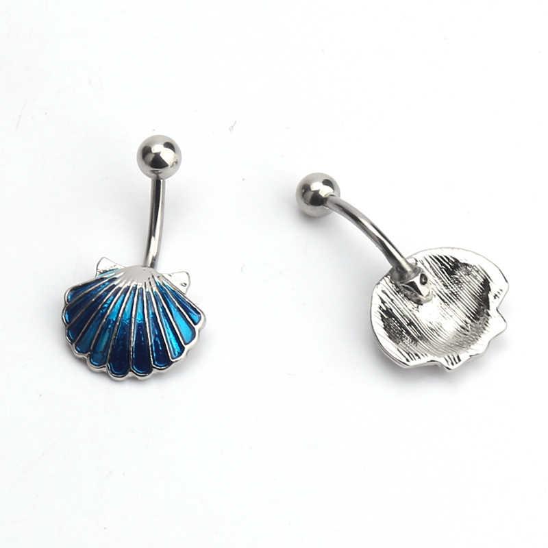 חדש עיצוב מעטפת תליון כירורגי פלדת טבור טבעת טבור פירסינג גוף תכשיטים