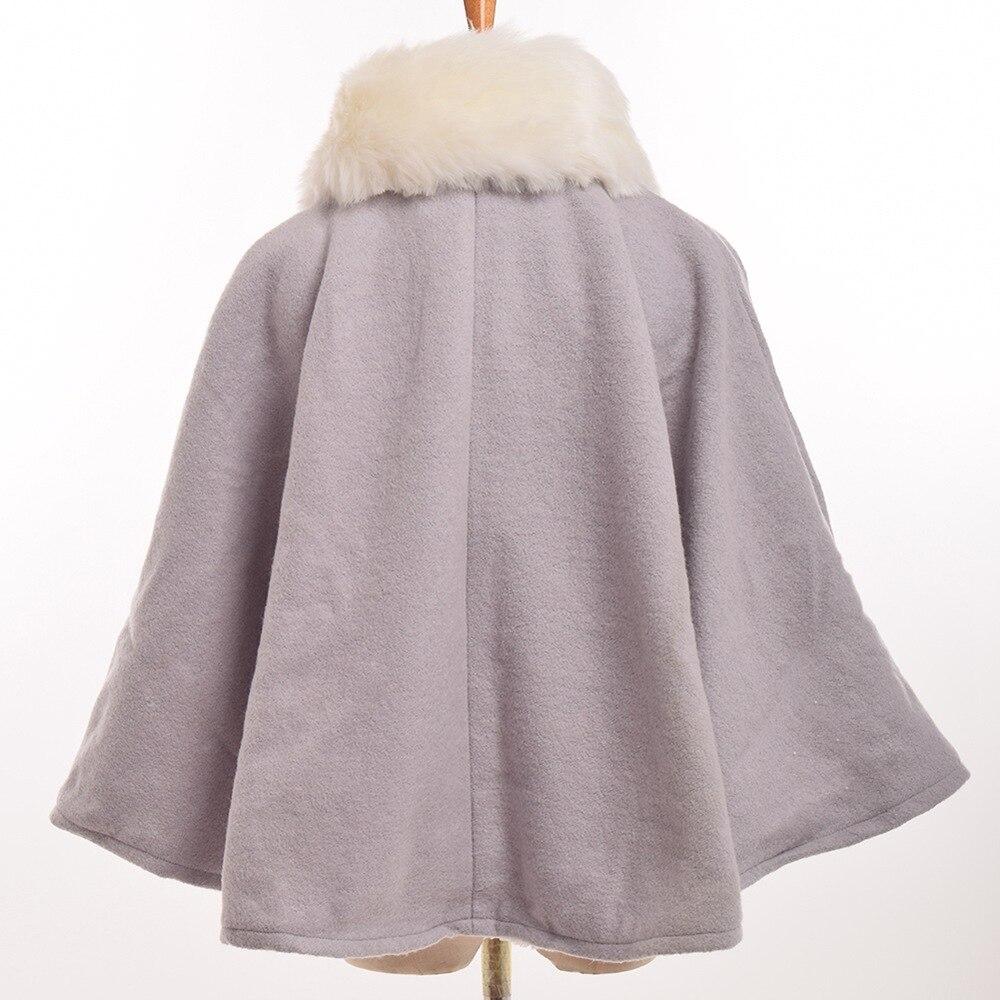Online Shop Girls Lolita Cape Cute Winter Thicken Short Cape Coat ...