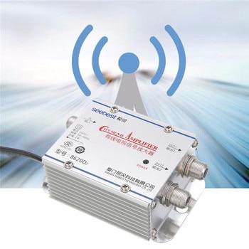 Mayitr 2Way CATV VCR TV Antenna Signal Amplifier 220V Professional Catv Booster Splitter 45-860MHz for Home Tv Equipments