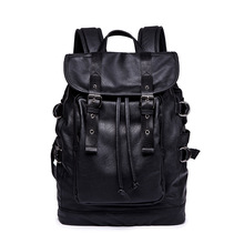 New Korean Version Of Double-shoulder Bag Fashionable Backpack Rope-pulling Design Travel