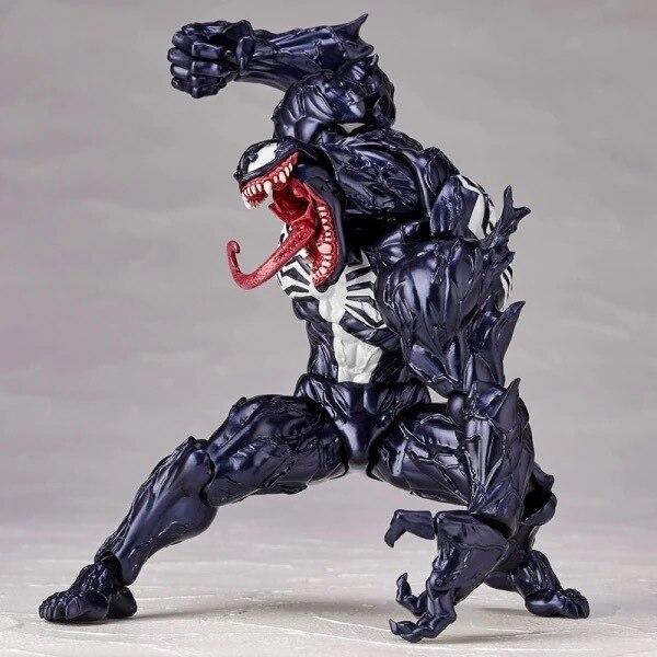 Personagem da Marvel Venom em The Amazing Spiderman Figura Modelo Brinquedos BJD 18 cm com Caixa