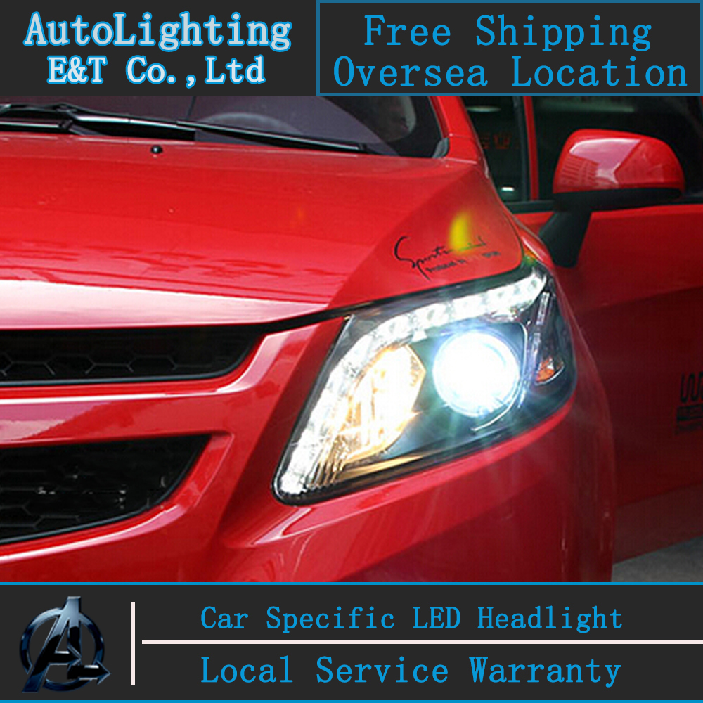 Car Styling LED Head Lamp for Chevrolet Sail headlights 2012-2015 New Sail led headlight led drl H7 hid Bi-Xenon Lens low beam чайник заварочный nouvelle восточная лилия 1 1 л