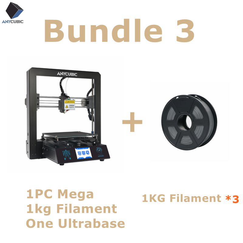 Anycubic 3D Printer I3 Mega Full Metal Frame Industrial Grade High Precision Affordable Easy Installation Nozzle