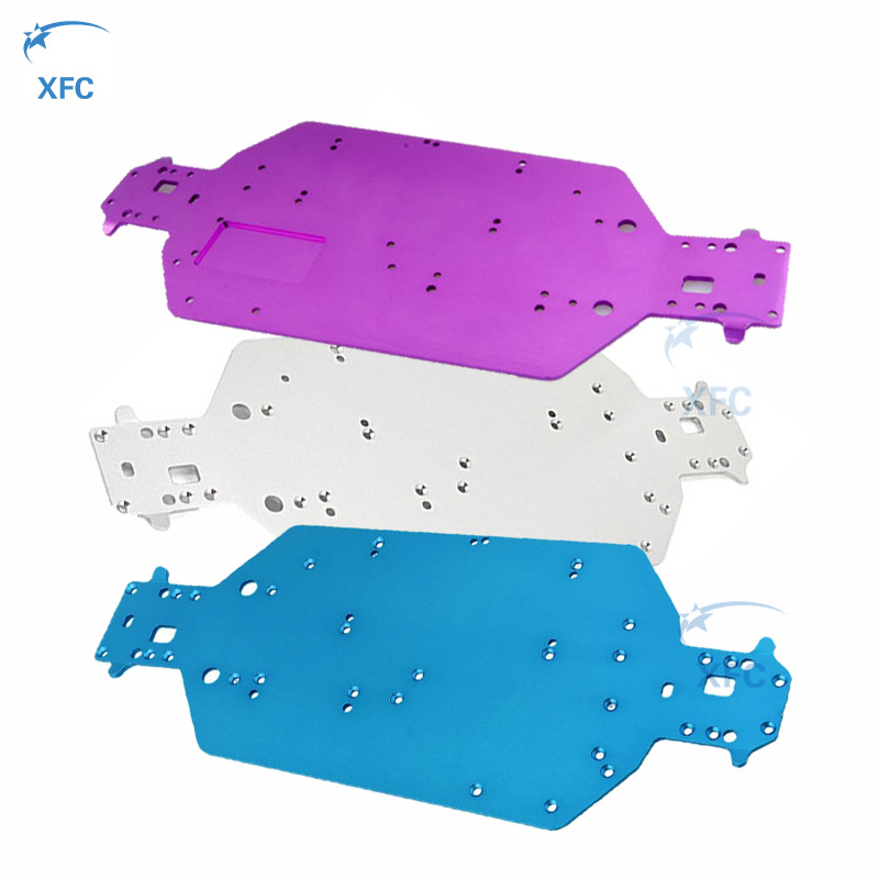 Aluminum Metal HSP 04001 Chassis 03601 Upgrade Part for RC 1/10 Model Off Road Car 94111 94170 94107 94118 hsp rc car upgrade parts accessories 04001 03601 metallic chassis hsp 1 10 scale models 94111 of road remote control rc car part