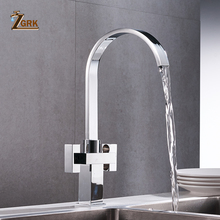 ZGRK Kitchen Faucets Deck Mount Mixer Tap 360 Degree Rotation with Water Purification Features Single Hole Crane For Kitchen frap new arrival kitchen faucet deck mounted mixer tap 180 degree rotation with water purification features nickle f4399 8