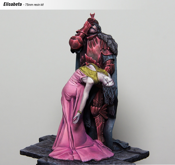 1/24 75mm Elisabeta, The Birth Of Dracula Soldier   Toy Resin Model Miniature Kit Unassembly Unpainted