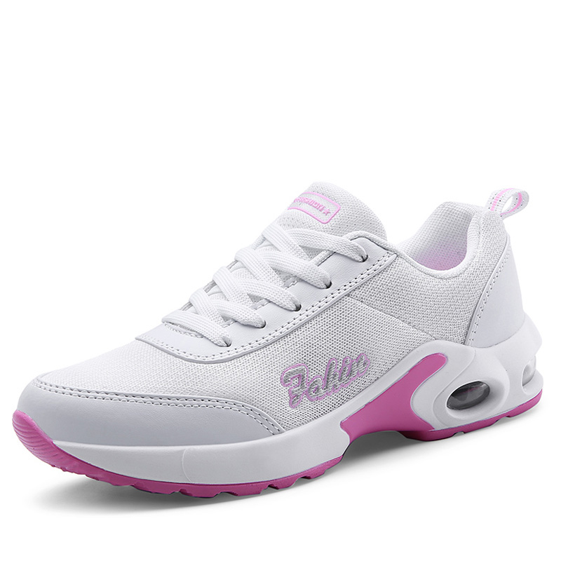 gris Wdzkn Rond Noir Sneakers Confortable Plat Air rouge Casual Zapatos Lacent Chaussures Respirant Mesh Mujer Bout 2018 blanc rose Femmes SraxSq