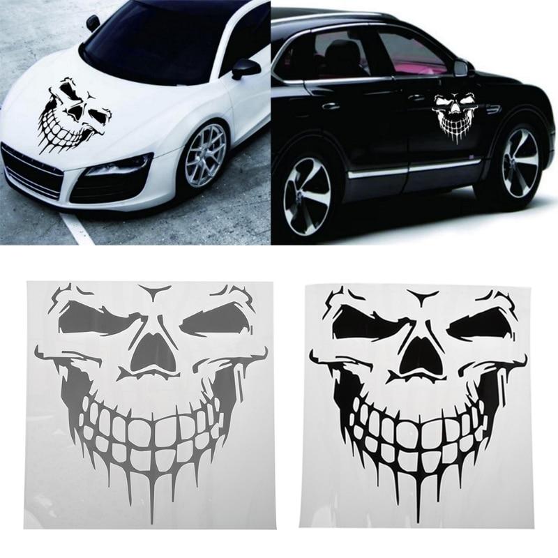 1 Pz Big Size 40x36 Cm Punisher Skull Testa Adesivo Auto Cofano Motore Porte E Finestre Truck Car Styling Decalcomanie Riflettenti E Adesivi