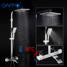 GAPPO shower Faucets thermostatic mixer White and Chrome bathroom shower faucet mixer wall mounted rainfall shower set mixer tap стоимость