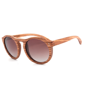 Image 5 - Toketorism עגול משקפי שמש עץ משקפי שמש גברים שיפוע עדשות מקוטבות נשים משקפיים שמש 6103