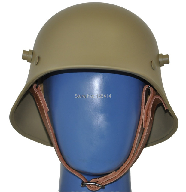 Free Shipping! Tan Colored World War One Helmet / Safety Helmet / WW1 German helmet / The Great War M18 Collection Helmet