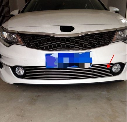 For 2017 Kia Optima K5 Car Front Bumper Mesh Grille Around Trim