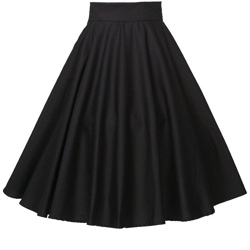 Юбки Женская одежда для вечеринок Клубная одежда полный круг длинные юбки черный красный Большие размеры 4xl xxxl Быстрая 60-х