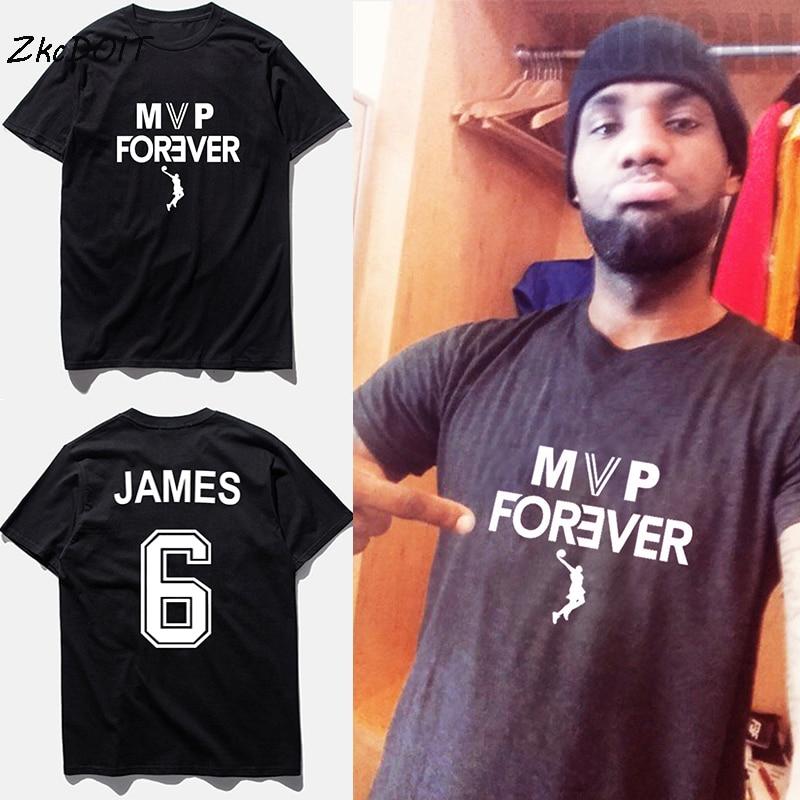 Lebron james jersey black 6  basketbal suit tee shirt men forever letters  printed tee shirts 9e656ea454ff