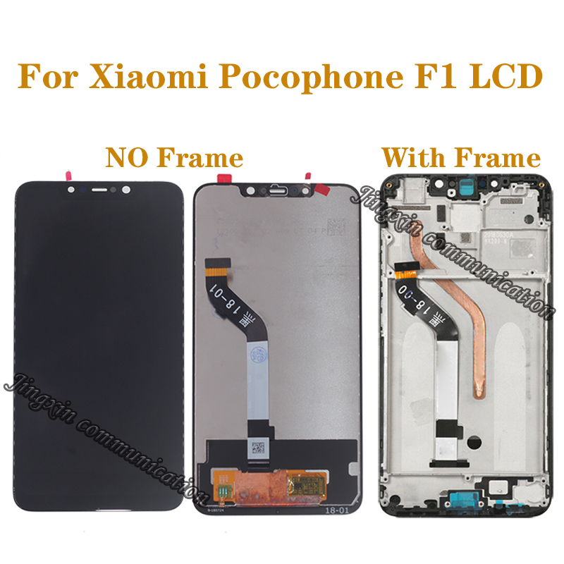 Original display For Xiaomi Pocophone F1 LCD touch screen digitizer mobile phone components for poco F1 monitor repair parts(China)