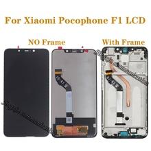 Xiaomi Pocophone F1 LCD 디스플레이 터치 스크린 디지타이저 xiaomi poco F1 모니터 수리 부품 용 오리지널 디스플레이