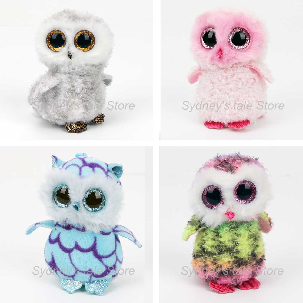 2017 Ty Beanie Boos Plush Toys Beanie Babies Big Eyes birthday Owl Mini Plush toy Anime dolls key chain Gift for Christmas Gifts ty beanie babies echo the dolphin plush toy stuffed animal