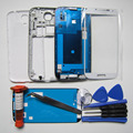 S4 Full Housing Case For Samsung Galaxy S IV i9505 Front Frame & Middle bezel &Rear Cover & Outer Glass&tweezers & Tool& UV glue