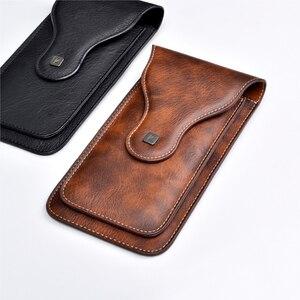 """Image 2 - Uniwersalny telefon komórkowy dla 4.0 """" 6.3"""" duży PU skórzany portfel etui torba zaczep na pasek wiszące pierścień pionowe odwróć etui dla iPhone Galaxy"""