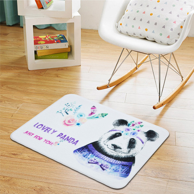 welcome floor mats feather panda printed mat home decor bathroom kitchen carpets house doormats for living