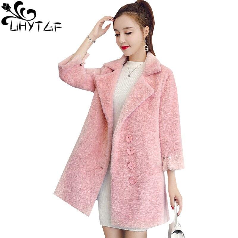 935 De Femmes Haute Creamy Veste Uhytgf Cachemire Vison Laine Gold white Velvetwinter Plus New Manteau Qualité Imitation pink Mode Sizeouterwear aW88nqR