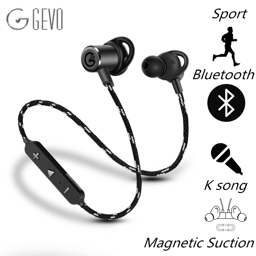 Sport Écouteur GEVO-18BT Auriculares Bluetooth Casque Écouteur Sans Fil Casque Écouteurs Écouteurs pour iPhone Samsung Xiaomi