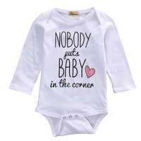 2016 Hot Newborn Baby Boy Girl Clothes Long Sleeve Letter Heart Cotton Bobysuit Jumpsuit One-pieces Outfits