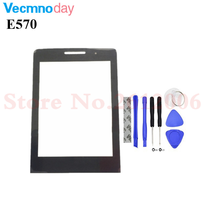 Vecmnoday Black Screen For <font><b>Philips</b></font> <font><b>E570</b></font> E571 Glass lens Panel Not Touch Screen Digitizer Replacement + tracking Number image